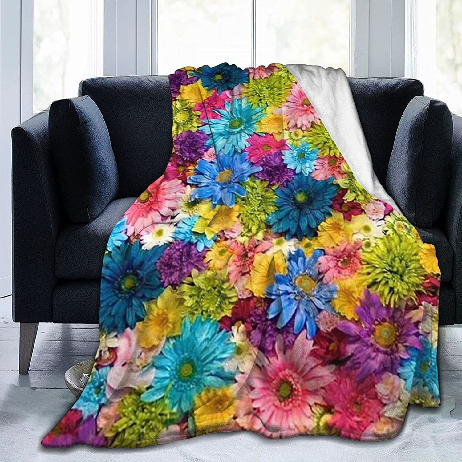 Limited time for free shipping Flowers Blanket Throws Soft Our shop OFFers the best service Warm Conditioning Air Comfy