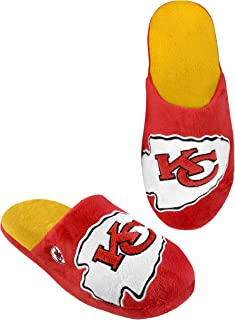 Team Beans NFL Kansas City Chiefs Men's Big Logo Slipper