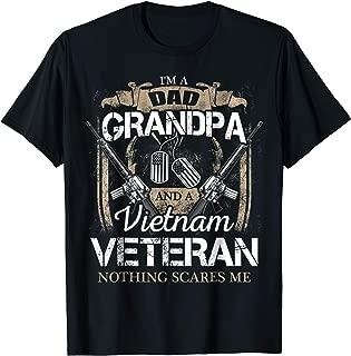 Mens I'm A Dad Grandpa And A Vietnam Veteran Shirt