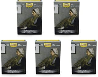 5 Packs Dragon Shield Classic Art Whistler's Mother Standard Size 100 ct Card Sleeves Value Bundle!