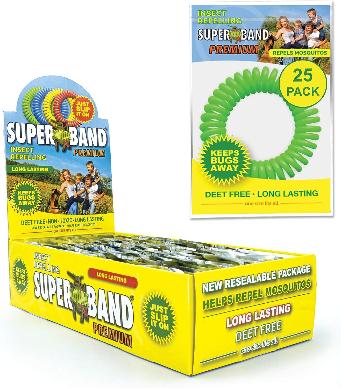 Max 60% OFF SUPERBAND Premium Mosquito Repellent Bracelet Pack - 25 Ki For List price