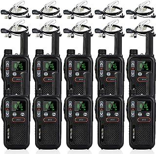 Retevis RB618 Walkie Talkie con Auriculares, PMR446 sin Licencia Doble PTT, Squelch VOX, LED Linterna, CTCSS/DCS Tot, Walk...