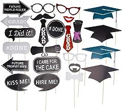 Relaxdays- Photocall Graduación Kit de 24 Unidades, Papel-Madera, Multicolor (10024356)