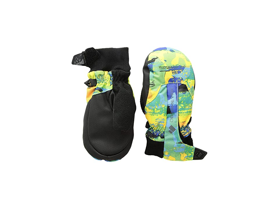Obermeyer Kids Thumbs Up Mitten Print (Little Kids/Big Kids) (Land/Sea Camo) Extreme Cold Weather Gloves