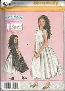 Simplicity 4899HH Sewing Pattern Girls Sweet Memories Daisy Kingdom Dress Size 3-6