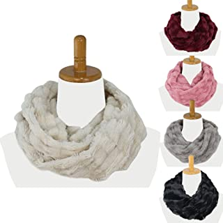 Infinity Scarf, Faux Fur Scarf for Women and Men, Super Soft, Stretchy and Lightweight Winter Scarf Shawl Neck Warmer.