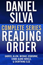 DANIEL SILVA COMPLETE SERIES READING ORDER: Gabriel Allon series in order, Michael Osbourne series in order, all omnibus editions, all stand-alone novels, and more!