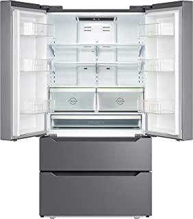 SMETA 36 Inch 22.5 cu ft Counter Depth French Door Refrigerator Bottom Freezer with Auto Ice Maker for Home Kitchen, Stain...