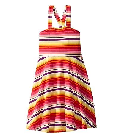 Toobydoo Skater Dress (Toddler/Little Kids/Big Kids) (Multicolored Stripe 1) Girl