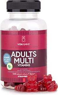 VITAYUMMY Adults Multivitamin Vegetarian Gummies With Natural Flavours | Allergen-Free and Gelatine-Free | Rich In Vitamin A C D E & B12 | Manufactured In Germany | 60 Gummies 1 Month Supply