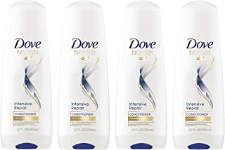 Dove Nutritive Solutions Shampoo, Anti-Frizz Oil Therapy Intense Repair Conditioner 12 oz, 4 Count