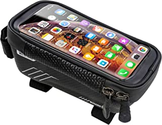 Bicycle Front Top Tube Touch Screen Saddle Bag Rack Mountain Road Bike Bag Smart Phone Bag,Bike Phone Mount Universal Bicy...