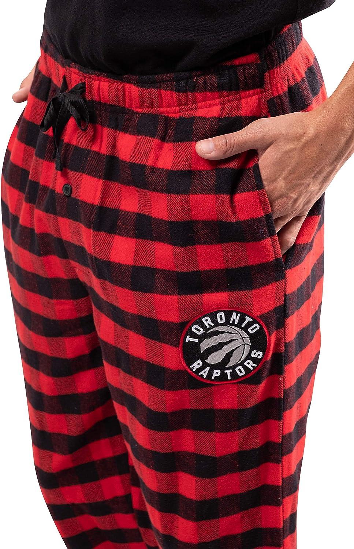 Ultra Game NBA Mens  Sleepwear Super Soft Flannel Pajama Loungewear Pants