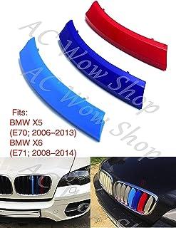 B M W 1 Series F20 F21 2015-2019 9 barres capot radiateur grilles rayures couvertures de lattes clips de garniture M Power Sport Performance Tech Paquet de couleur