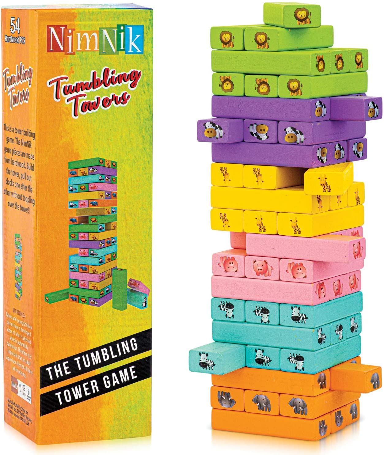 Wooden Blocks Stacking Building Game Indoor Tower Tumbling Kid - Ranking TOP14 New popularity