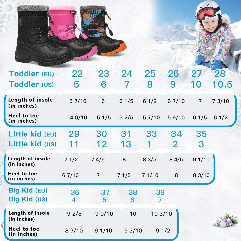 Kids Snow Boots/Boys /& Girls/Winter/Boots Lightweight Waterproof Cold Weather Outdoor Boots / Toddler//Little Kid//Big Kid