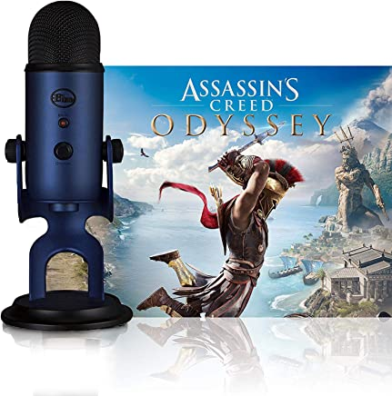 Blue Microphones Midnight Blue Yeti w/Assassin's Creed Odyssey Streamer Bundle