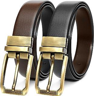 Rizoro Mens Man Reversible Turning PU Black Brown & Tan Leather Belt For Men Formal Gifting Gift Set (IT, Waist Upto -46 I...