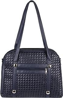 Large Faux Leather Shoulder Long Tote Bowler Bag Travel Duffle Shopper Handbag
