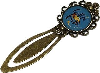 Segnalibri resina Messaggio Carpe Diem blu nero giallo 20mm personalizzato libro regalo personalizzato Natale compleanno c...