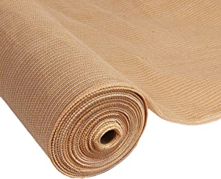 Instahut 70% UV Sun Shade Cloth Shadecloth Sail Roll Mesh Garden Outdoor 175gsm 3.6x10m-Beige