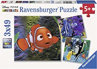 Ravensburger Disney Pixar: In the Aquarium 3 x 49 Piece Jigsaw Puzzles for Kids – Every Piece is Unique, Pieces Fit Together Perfectly