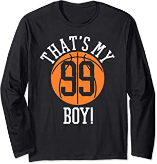 My Boy #99 Basketball Number 99 Jersey Basketball Mom Dad Long Sleeve T-Shirt