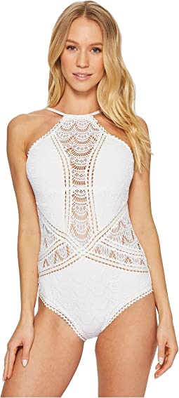 Color Play High Neck One-Piece