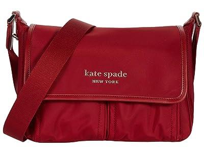 Kate Spade New York Daily Medium Messenger (Red Currant) Handbags