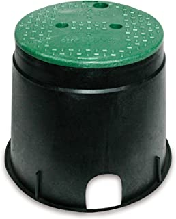 NDS 111BC Standard Series Round Valve Box Overlapping Cover-ICV, 10-Inch, Black/Green