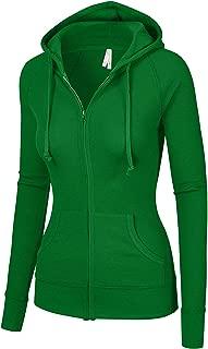 OLLIE ARNES Women's Thermal Long Hoodie Zip Up Jacket Sweater Tops