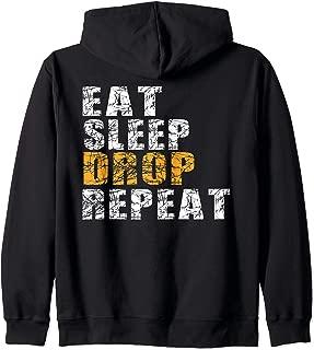 Eat Sleep Drop Repeat Zip Hoodie