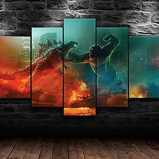 Gtart Impression sur Toile Tableau Moderne XXL Multi Panneau 5 Parties Tableau Decoration Murale Salon Chambre Cadre Godzi...