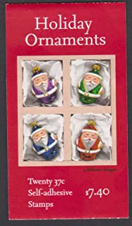 2004 Holiday Santa Claus Ornaments #3886b Booklet of 20 x 37 cents US Postage Stamps