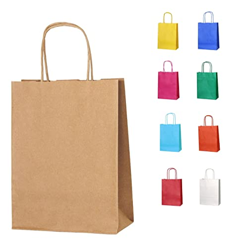 6356c1d353 Thepaperbagstore 10 BROWN (TM) SMALL PAPER PARTY BAGS WITH HANDLES - CHOOSE  YOUR COLOUR