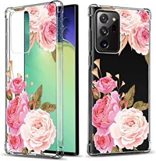 GREATRULY Floral Clear Case for Galaxy Note 20 Ultra for Women/Girls,Pretty Phone Case for Samsung Galaxy Note 20 Ultra,Fl...
