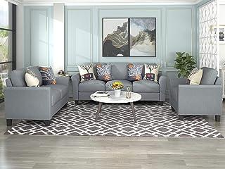 Amazon Com Living Room Furniture Sets 3 Pieces Living Room Sets Living Room Furniture Home Kitchen