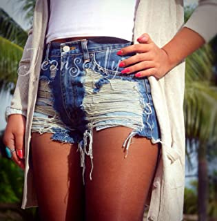 Levis High waisted denim shorts distress cutoff jean...