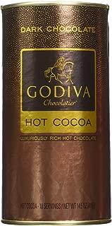 GODIVA Chocolatier Dark Chocolate Hot Cocoa Canister,14.5 oz