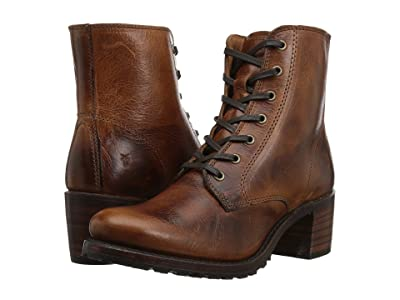 Frye Sabrina 6G Lace Up (Cognac Oil Tanned Full Grain) Women