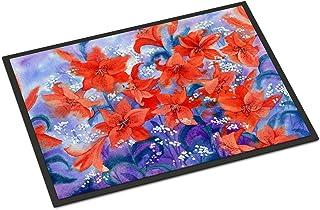 Caroline's Treasures IBD0257MAT Lillies Indoor or Outdoor Mat 18x27, 18H X 27W, Multicolor