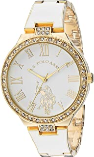 U.S. Polo Assn. USC40321 Women's Quartz Watch, Analog Display and Stainless Steel Strap