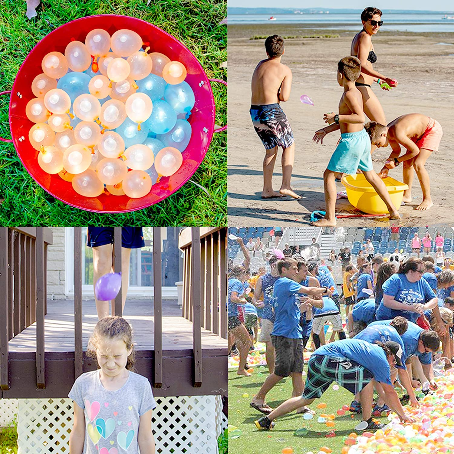 800 Pack Water Balloons for Kids for Fighting Games Hibery Water Balloons Summer Splash Fun for Kids /& Adults with Hose Nozzle set