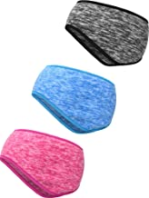 Blulu 3 Pieces Ear Warmer Headband Full Cover Ear Muffs Headband Sports Headband for Outdoor Use Sports Fitness