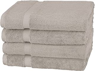 Pinzon by Amazon Pinzon Organic Cotton Bath Towel (4-Pack), PZOR-MG-4PK, 100% Cotton, Marble Grey, Bath Towel 4 - Pack