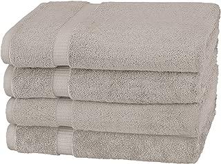 Pinzon Organic Cotton Bath Towel, Set of 4, Marble Grey