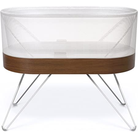 SNOO Smart Sleeper Baby Bassinet - Bedside Crib with Automatic Rocking Motions and Soothing White Noise - Ideal for Newborn Babies to 6 Months - Natural Sleep Training