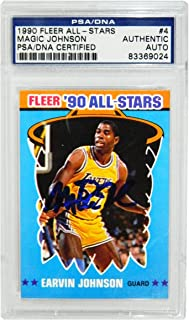 a2f78d79a Magic Johnson Signed Los Angeles Lakers 1990 Fleer All Star Trading Card  4  - (