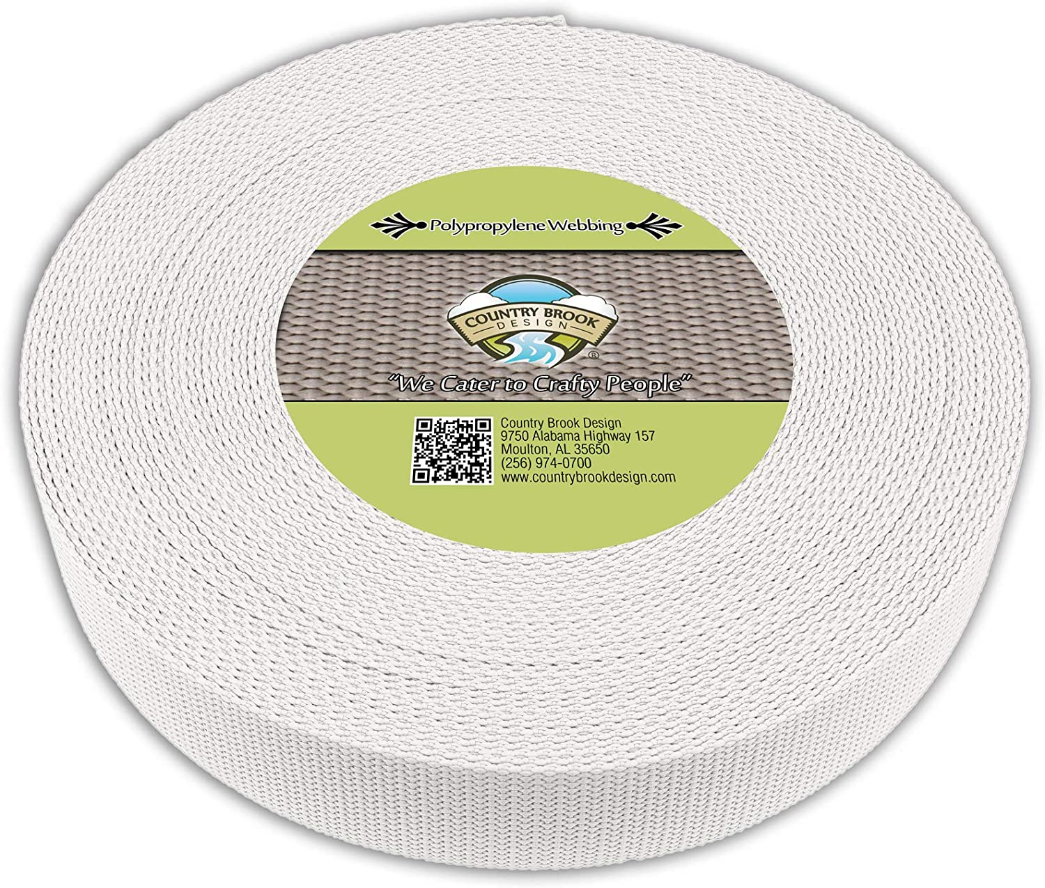 Country Challenge the lowest price of Japan Brook Safety and trust Design - White 2 Polypropylene Webbing Inch