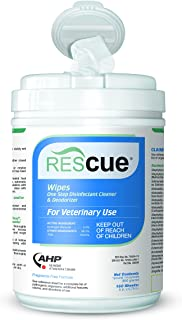 REScue One-Step Disinfectant Cleaner & Deodorizer for Veterinary Use, EPA registered Accelerated Hydrogen Peroxide, Wipes,...